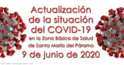 Actualización de la situación del COVID-19 en la Z.B.S. de Santa María del Páramo a 9.06.2020