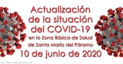 Actualización de la situación del COVID-19 en la Z.B.S. de Santa María del Páramo a 10.06.2020