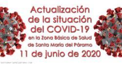 Actualización de la situación del COVID-19 en la Z.B.S. de Santa María del Páramo a 11.06.2020