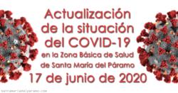 Actualización de la situación del COVID-19 en la Z.B.S. de Santa María del Páramo a 17.06.2020