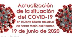 Actualización de la situación del COVID-19 en la Z.B.S. de Santa María del Páramo a 19.06.2020