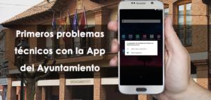 Primeros problemas técnicos con la App del Ayuntamiento
