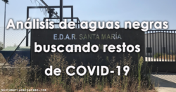 Análisis de aguas negras buscando restos de COVID-19