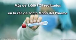 Más de 1.000 PCR realizadas en la ZBS de Santa María del Páramo