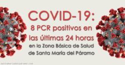 8 PCR positivos en las últimas 24 horas en la Z.B.S. de Santa María del Páramo