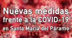 Nuevas medidas frente a la COVID-19 en Santa María del Páramo