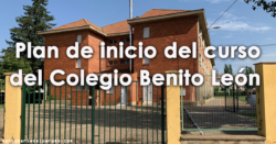 Plan de inicio del curso del Colegio Benito León