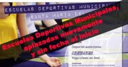 Escuelas Deportivas Municipales, aplazadas nuevamente y sin fecha el inicio