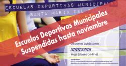 El Ayuntamiento suspende el inicio de las Escuelas Deportivas hasta noviembre