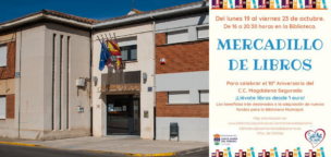 Mercadillo de libros en la Biblioteca de Santa María del Páramo