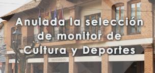 Anulada la selección de monitor de Cultura y Deportes