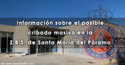 Información sobre el posible cribado masivo en la Z.B.S. de Santa María del Páramo