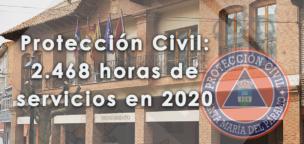 Protección Civil: 2.468 horas de servicios en 2020
