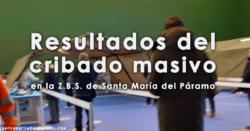 Resultados del cribado en la Z.B.S. de Santa María del Páramo
