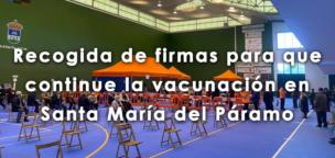 Recogida de firmas para que continue la vacunación en Santa María del Páramo