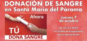 Donación de sangre mañana en Santa María del Páramo