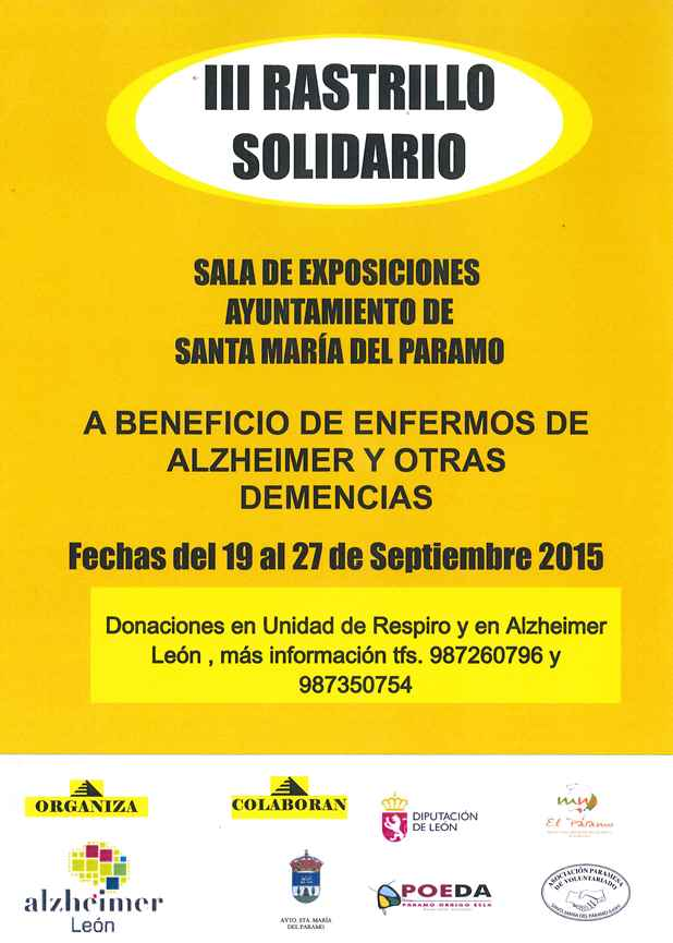 3.- Rastrillo Solidario