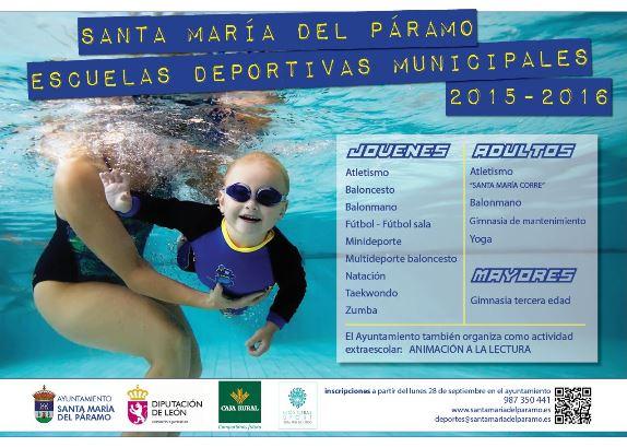 Cartel Escuelas Deportivas Municipales 2015-2016 red