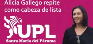 Alicia Gallego cabeza de lista de la UPL