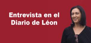 Entrevista a Alicia Gallego en el Diario de León