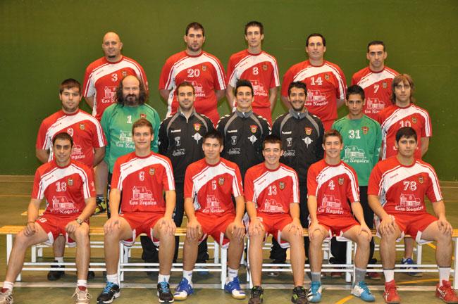 Plantilla temporada 2012-13. Fotografía de la web del Balonmano Atlético Paramés