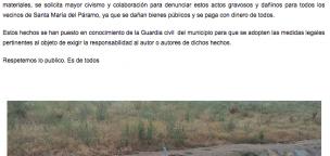 El Ayuntamiento denuncia actos vandálicos