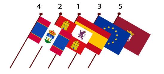 banderascolocadas