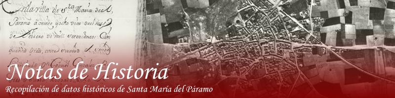 Notas históricas de Santa María del Páramo