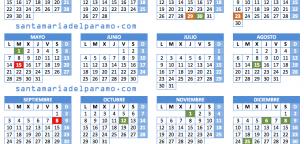 Calendario Laboral 2018 en Santa María del Páramo