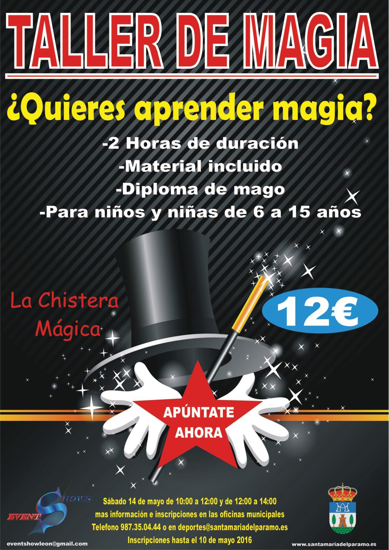 cartel taller de magia