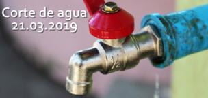 Corte de agua mañana 21 de marzo