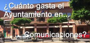 ¿Cuánto gasta el Ayuntamiento en servicios de telecomunicaciones?