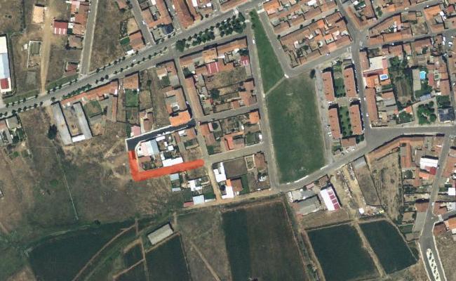 En rojo marcada una de las actuaciones previstas en la calle Erios