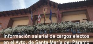 Información salarial de cargos electos del Ayuntamiento de Santa María del Páramo