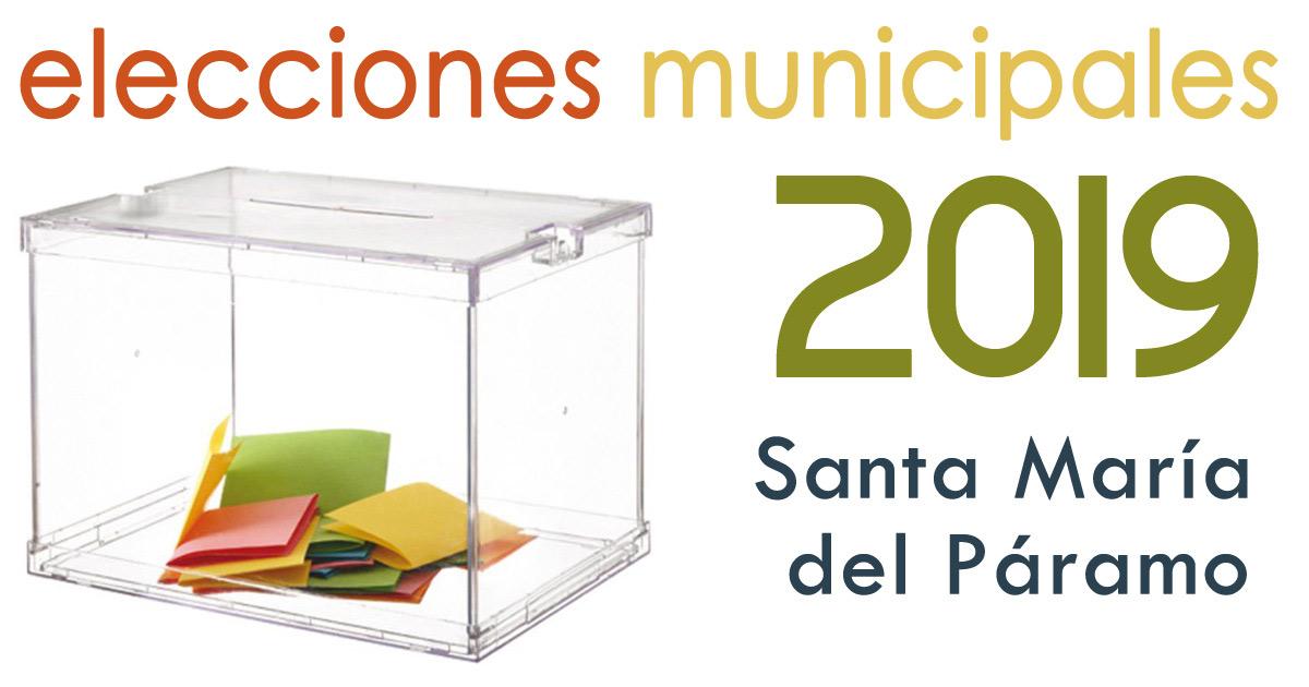 Toda la información sobre las Elecciones Municipales 2019 en Santa María del Páramo