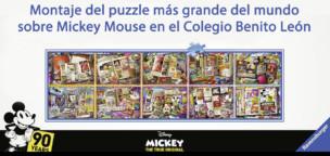 Montaje del puzzle más grande del mundo sobre Mickey Mouse