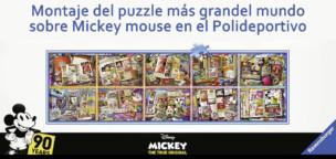 Cambio de ubicación para el montaje del puzzle de Mickey Mouse