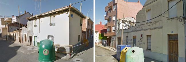Inmuebles declarados en ruina. Foto Google Street View
