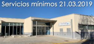 Servicios mínimos en el Centro de Salud para la huelga del 21 de marzo